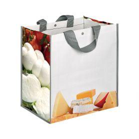 """Shopping bag Shopping 35x34,5x22cm """"Cheese"""" Polypropylene"""