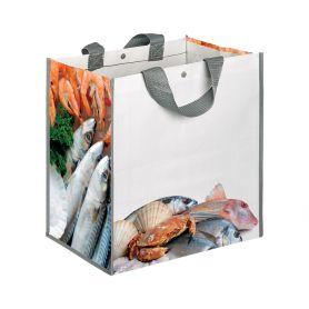 "Borsa Shopping Spesa 35x34,5x22cm ""Pesce"" in Polipropilene"