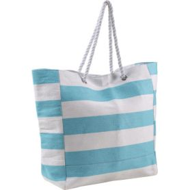 Beach bag 45 x 41 x 19 cm two-tone heavy cotton