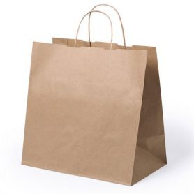 Shopper bag, Take Away 30 x 29 x 18 cm Paper Natural