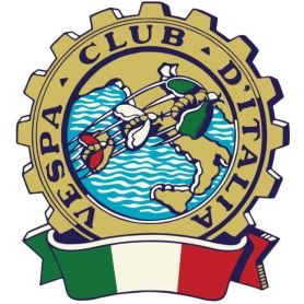 """Labels self Adhesive PVC for the """"Vespa Club"""" on the measure with print HD color"""