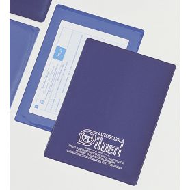Envelope document holder in imitation Leather from one side and Transparent on the other. Customizable with your logo!