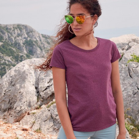 T-Shirt Ladies Valueweight T Manica Corta Fruit Of The Loom