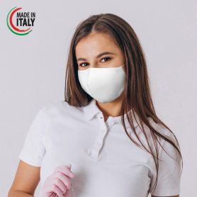 Mask-protection in Cotton, washable and reusable. Made in Italy