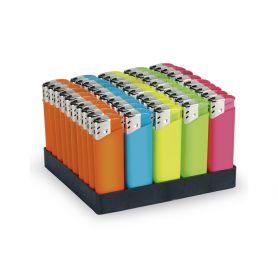 Accendino piezoelettrico Neon colori assortiti personalizzabile con il tuo logo