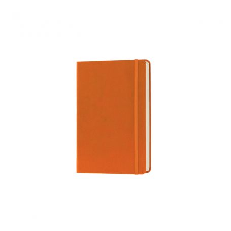 Notebook/Notes in a hardback 13 x 21 cm with elastic and ivory paper. Customizable with your logo!