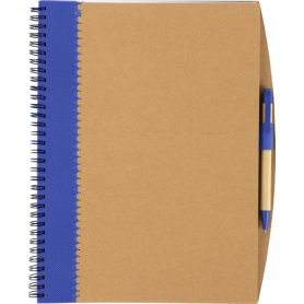 Notes/Notebook in recycled cardboard, 23 x 29 cm pen and biodegradable. Customizable with your logo!