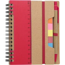 Notes/Notebook in hardback 13 x 15 cm) memo stick, ruler, and pen. Customizable with your logo!