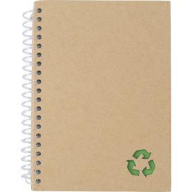 Notes/Taccuino in carta minerale 13 x 18 cm ecologico spirale. Personalizzabile con il tuo logo!