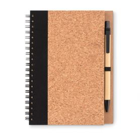 Notes/Notebook 13 x 18 cm Cork with the pen. Customizable with your logo