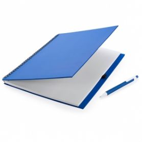 Notes A4 in cartone riciclato con spirale e penna coordinata. Personalizzabile con il tuo logo