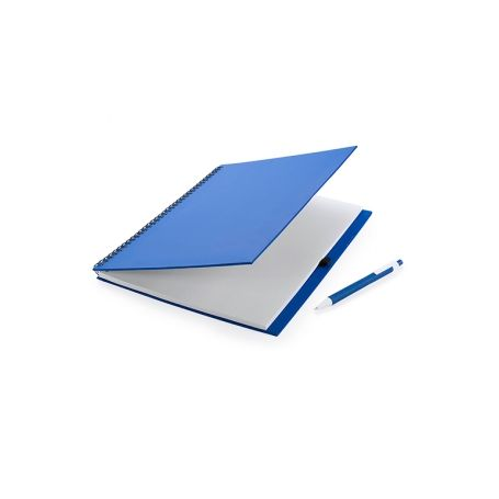 Notes A4 recycled paper with a spiral and pen-coordinate. Customizable with your logo