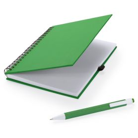 Notes A5 made from recycled cardboard with a spiral and pen-coordinate. Customizable with your logo