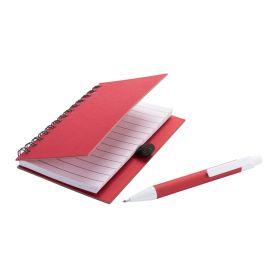 Notes A6 in cartone riciclato con spirale e penna coordinata. Personalizzabile con il tuo logo