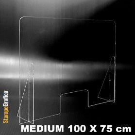 Screen protection-the-counter 100 x 75 cm, in transparent plexiglas. MEDIUM