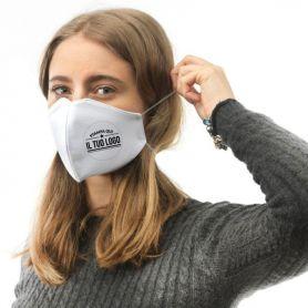 Mascherina in Cotone personalizzata con il tuo logo. Lavabile e riutilizzabile. Made in Italy