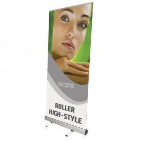 Roll Up Classic aluminium à Rouleaux Haute de Style avec une impression HD