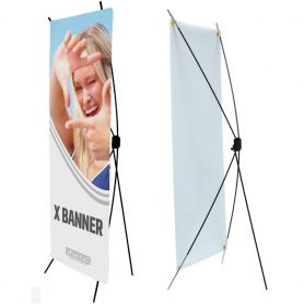 Self-supporting structure X Banner with printing HD