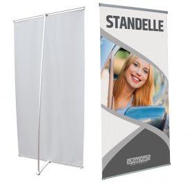 Struttura L Banner in alluminio con stampa HD