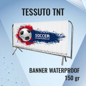 Tessuto TNT 150 gr banner waterproof con stampa HD