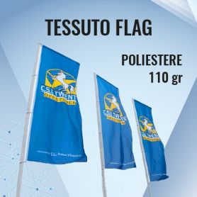 Tessuto Poliestere Flag 110 gr con stampa HD