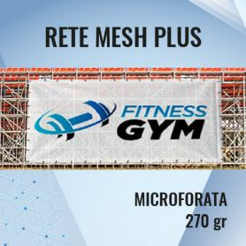 The Mesh network Plus micro-perforated 270 gr with print HD
