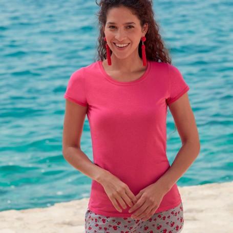 T-Shirt Original T Women's Short Sleeve Fruit Of The Loom