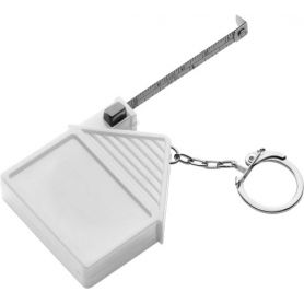 Keyring house, tape measure 2 meter, ABS customized with your logo