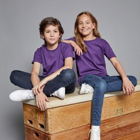 T-Shirt Children's Slim T Child Short Sleeve Russel