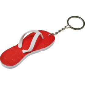 Portachiavi forma infradito flip-flop personalizzabile con il tuo logo
