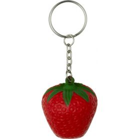 Keychain antistress fruit shape strawberry customizable with your logo