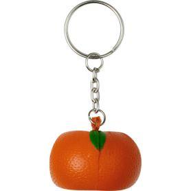 Keychain antistress fruit shape, orange, personalized with your logo