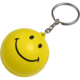 Keychain antistress Smiley face yellow customized with your logo