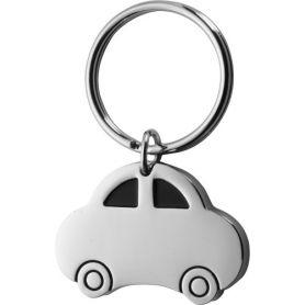 "Metal key ring ""car"" customizable with your logo"
