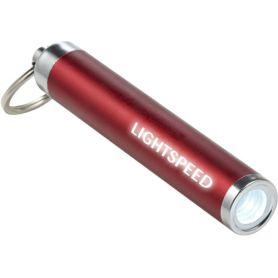 Keychain with mini LED flashlight customized with your logo.