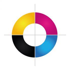 A colori in Digitale Diretta ( su tessuto chiaro ) 30 x 30 cm max