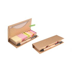 Desk Set Maple Eco-friendly with pen and ruler, customized with your logo