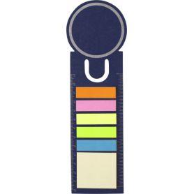 Set memo con stick colorati e funzione righello, personalizzabile con il tuo logo