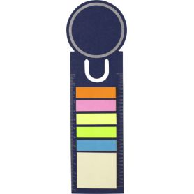 Set memo with stick the coloured and function ruler customized with your logo