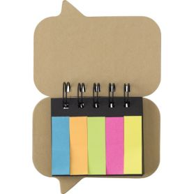 Set memo with stick, colored and bound in a spiral, customizable with your logo