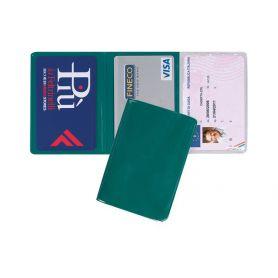 Porta Cards in PVC, 3 tasche, personalizzabile con il tuo logo