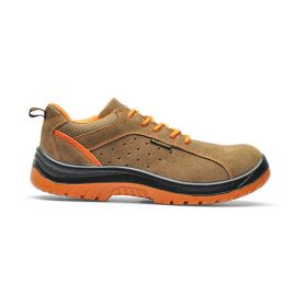 Scarpa antinfortunistica low Hermes suede S1P - Taupe/Sand