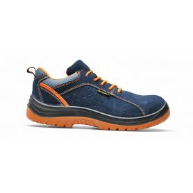 Scarpa antinfortunistica low Hermes suede S1P - Blue