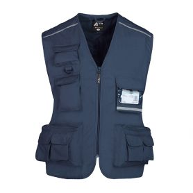 Vest multipockets sleeveless top in Policotton, Unisex, Ale