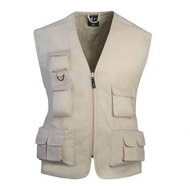Vest multipockets sleeveless top in Policotton, Multi, Unisex, Ale