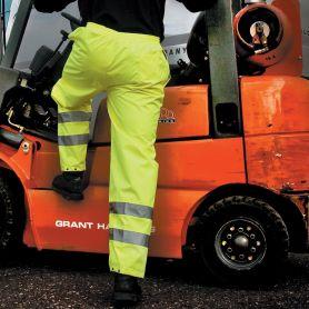 Pantalon jaune haute visibilité, bandes réfléchissantes, Unisexe, Résultat