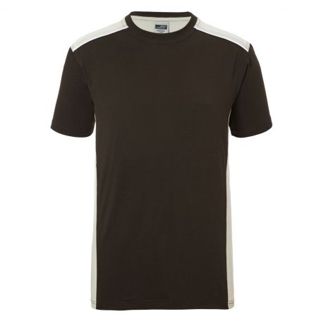 T-Shirts, Men's Workwear, Brown 50.50, Unisex, James & Nicholson