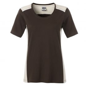 T-Shirt Ladies' Workwear, Brown, 50.50, Donna, James & Nicholson