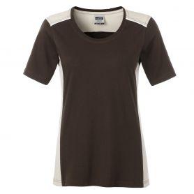 T-Shirt Ladies' Workwear, Brown, 50.50, Donna, James & Nicholson