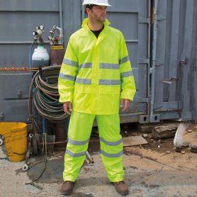 Kit Giacca + Pantalone alta visibilità. Con bande rifrangenti. Unisex, Result